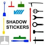 Vikan Shadow Stickers
