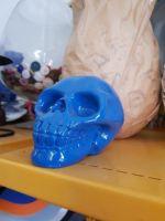 Skull - resin - Blue & White